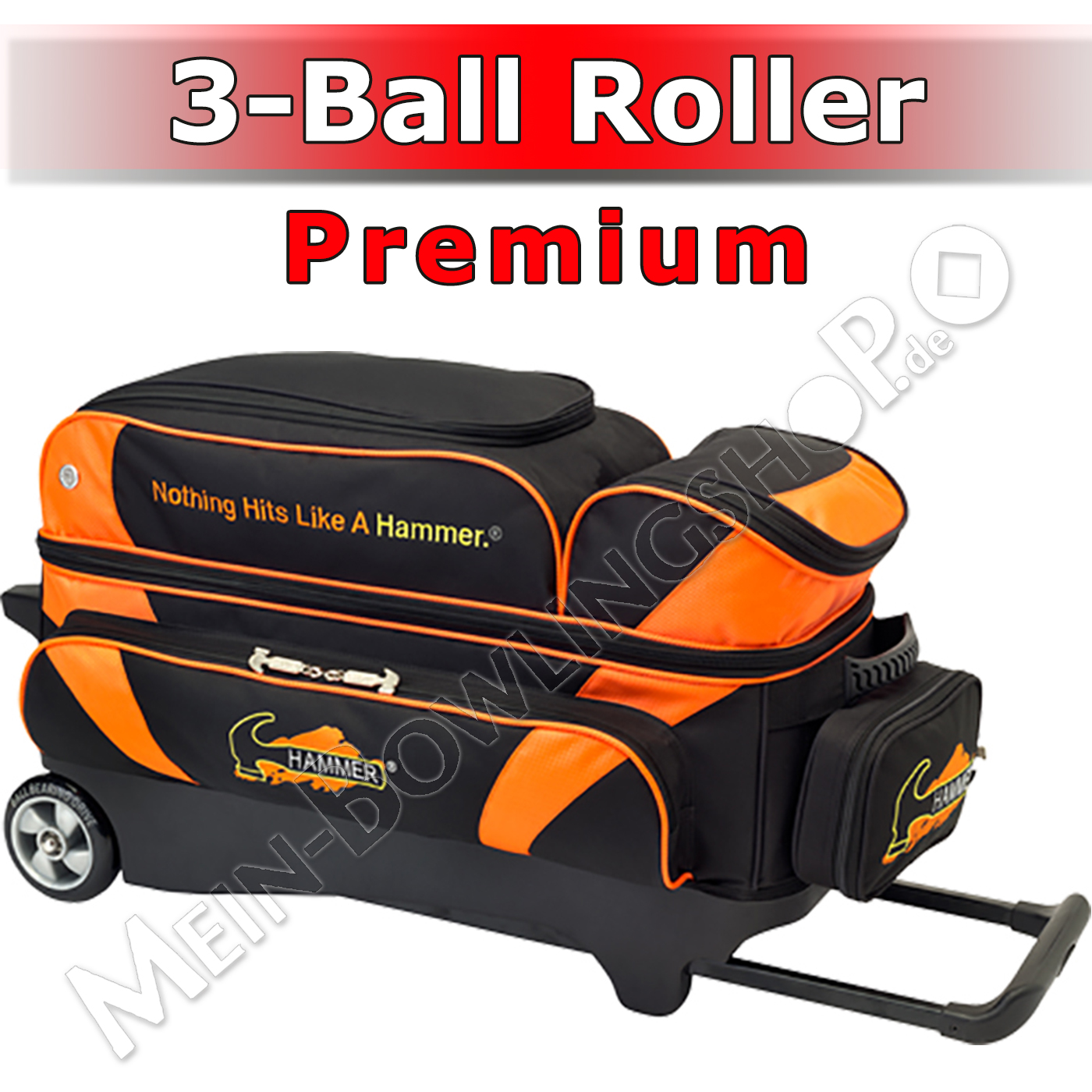 bowlingtasche 3 ball roller hammer premium f r 3. Black Bedroom Furniture Sets. Home Design Ideas