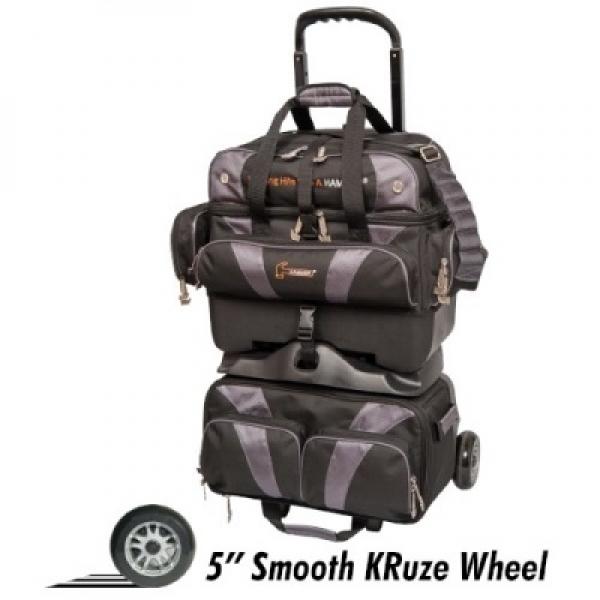 Premium 4-Ball Stackable Roller Schwarz/Carbon