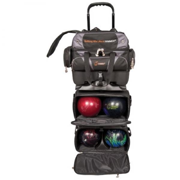 Premium 6 Ball Stackable Roller Schwarz/Carbon