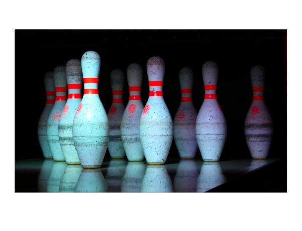 Leinwandbild Bowling - Pindeck 80 x 120 cm