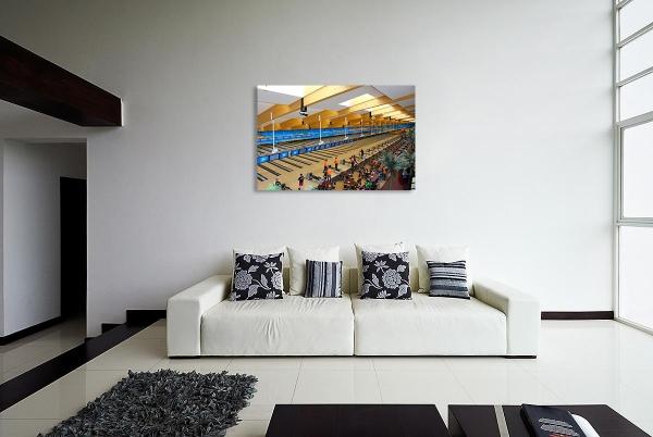 Leinwandbild Bowling - Bowlingcenter 80 x 120 cm
