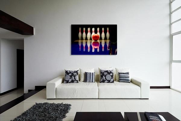 Leinwandbild Bowling - Hit the Pins 80 x 120 cm