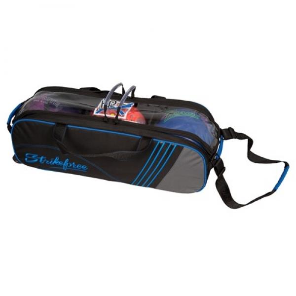 LR Inline 3 Ball Slim Tote Tasche Schwarz/Grau/Royal