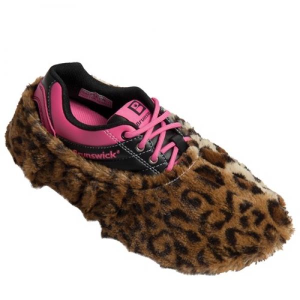 Fuzzy Shoe Cover Leopard Schuhüberzieher