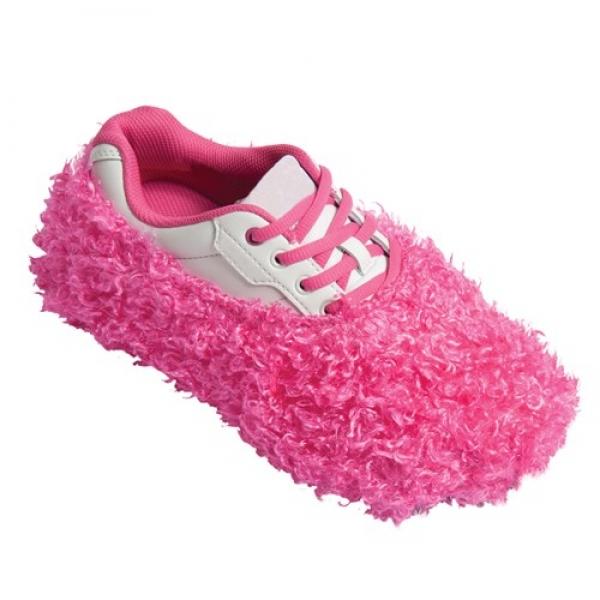 Fuzzy Shoe Cover Pink Schuhüberzieher