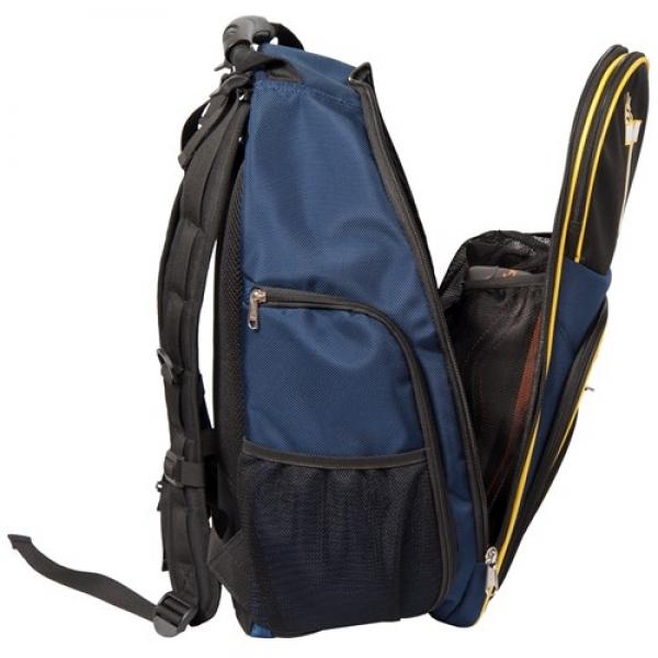 Premium Rucksack Schwarz/Blau/Gelb