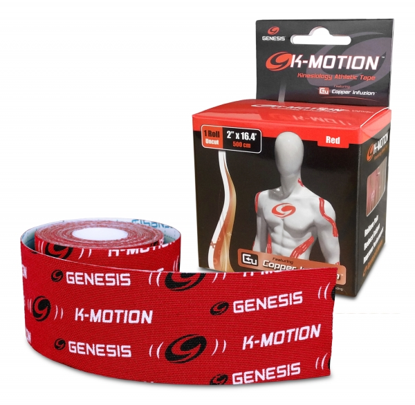 K-Motion Kinesiology Tape 2 Inch Rolle Rot