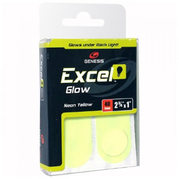 Excel Glow - Neon Gelb - Tape - 10 Stück - Vorgeschnitten