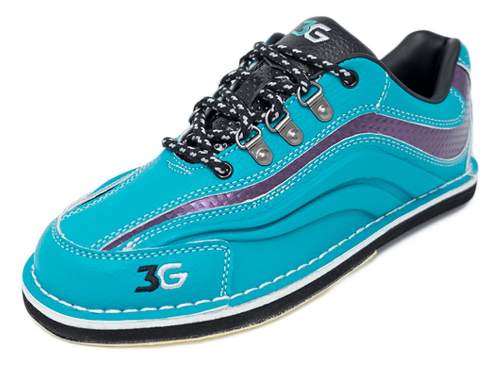 3G Sport Ultra Womens Teal//Purple Interchangeable Bowling Shoes