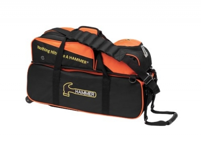 Premium Deluxe Slim - Triple Tote - Orange - Schuhfach