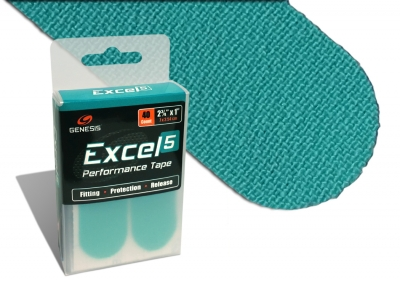 Excel 5 - Klassik Aqua - Tape - 40 Stück - Vorgeschnitten