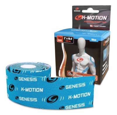 K-Motion Tape Un-cut Roll Blau Kinesiologie Tape Rolle