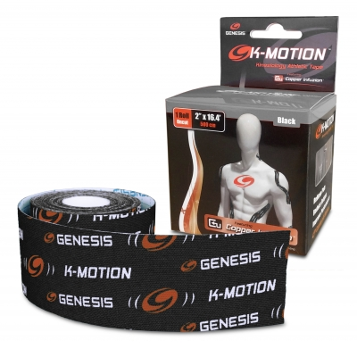 K-Motion Tape Un-cut Roll Schwarz Kinesiologie Tape Rolle
