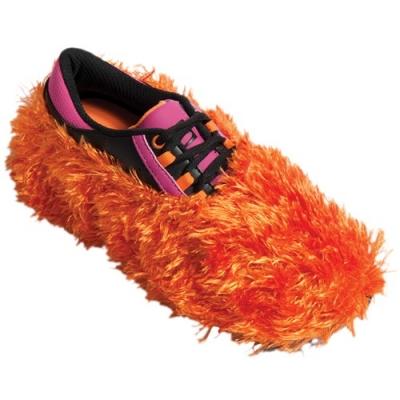 Fuzzy Shoe Cover Orange Schuhüberzieher