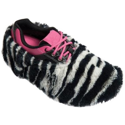 Fuzzy Shoe Cover Schuhüberzieher Zebra