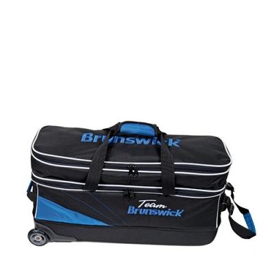 Team Brunswick - Triple Tote - Schwarz/Blau - Schuhfach
