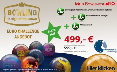 Brunswick Euro Challenge 3 Ball Angebot Set 13 lbs