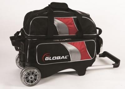 Global 2-Ball Deluxe Roller Schwarz/Rot/Silber