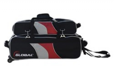 3-Ball Tote/Roller Deluxe Airline Schwarz/Rot/Silber
