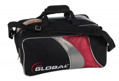 Travel Tote - Double Tote - Schwarz/Rot/Silber