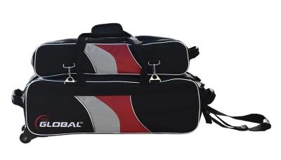 3-BALL DELUXE AIRLINE SCHWARZ/ROT/SILBER