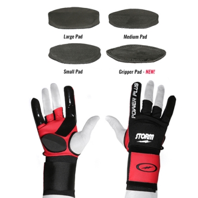 Power Glove Plus - Handschuh - Schwarz/Rot