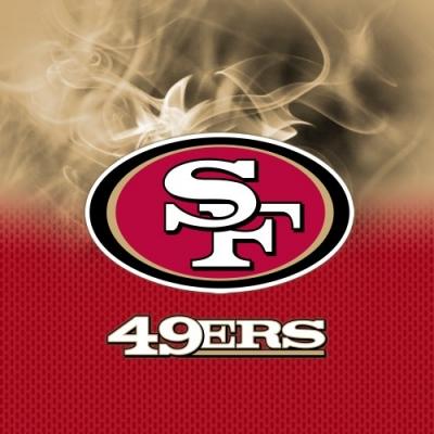 NFL San Francisco 49ers - Dye Sub - Handtuch - Mikrofaser