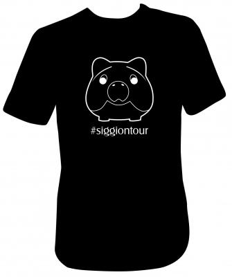 Siggi Phrasenschwein T-Shirt Schwarz